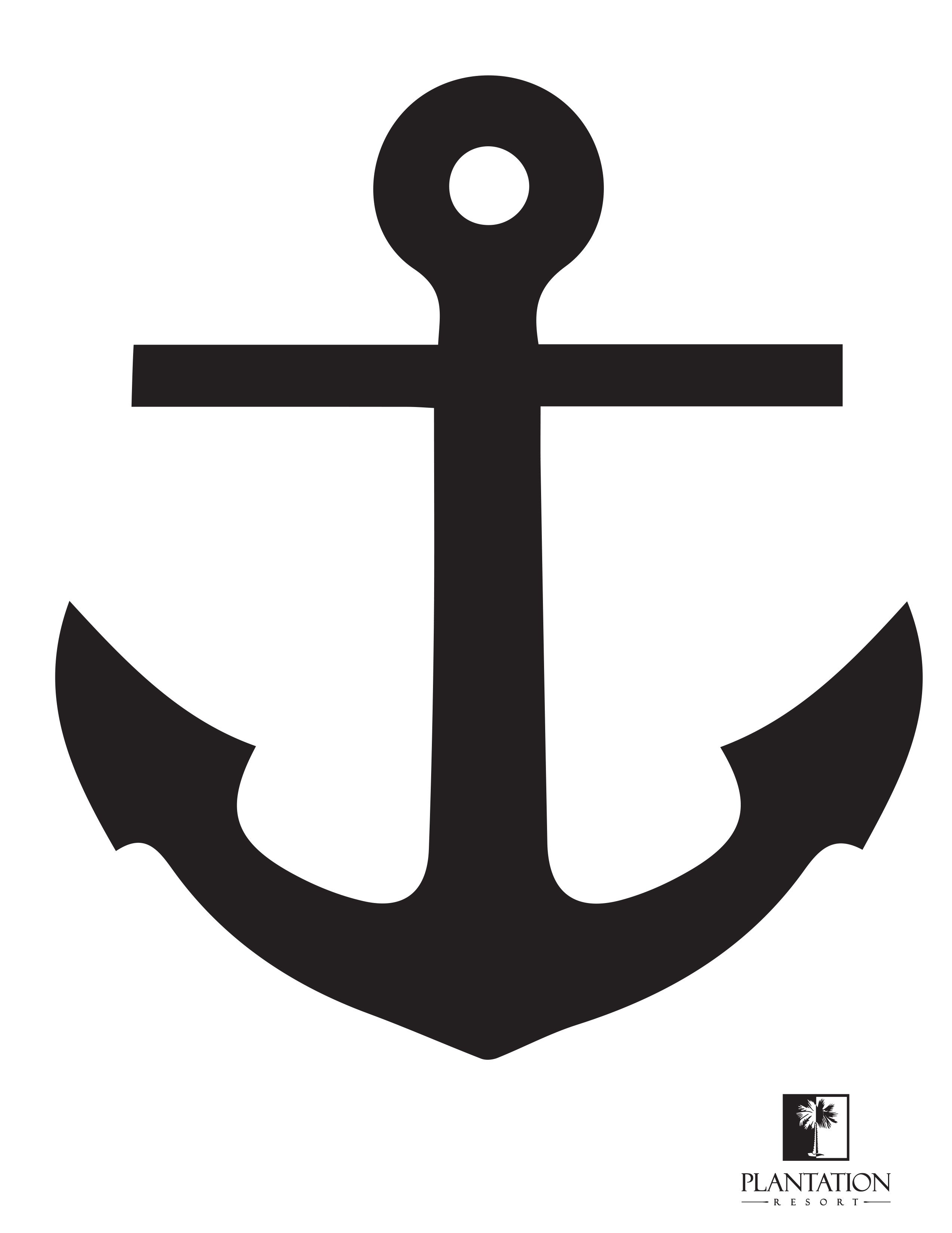 Anchor clipart stencil. Pumpkin print out this