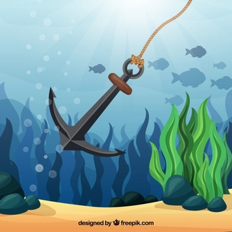 Clipart anchor underwater. Free drawn download clip