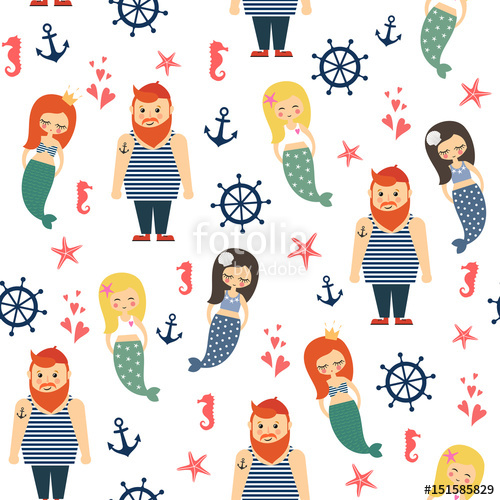 Anchor clipart underwater. Mermaids girls with sailor
