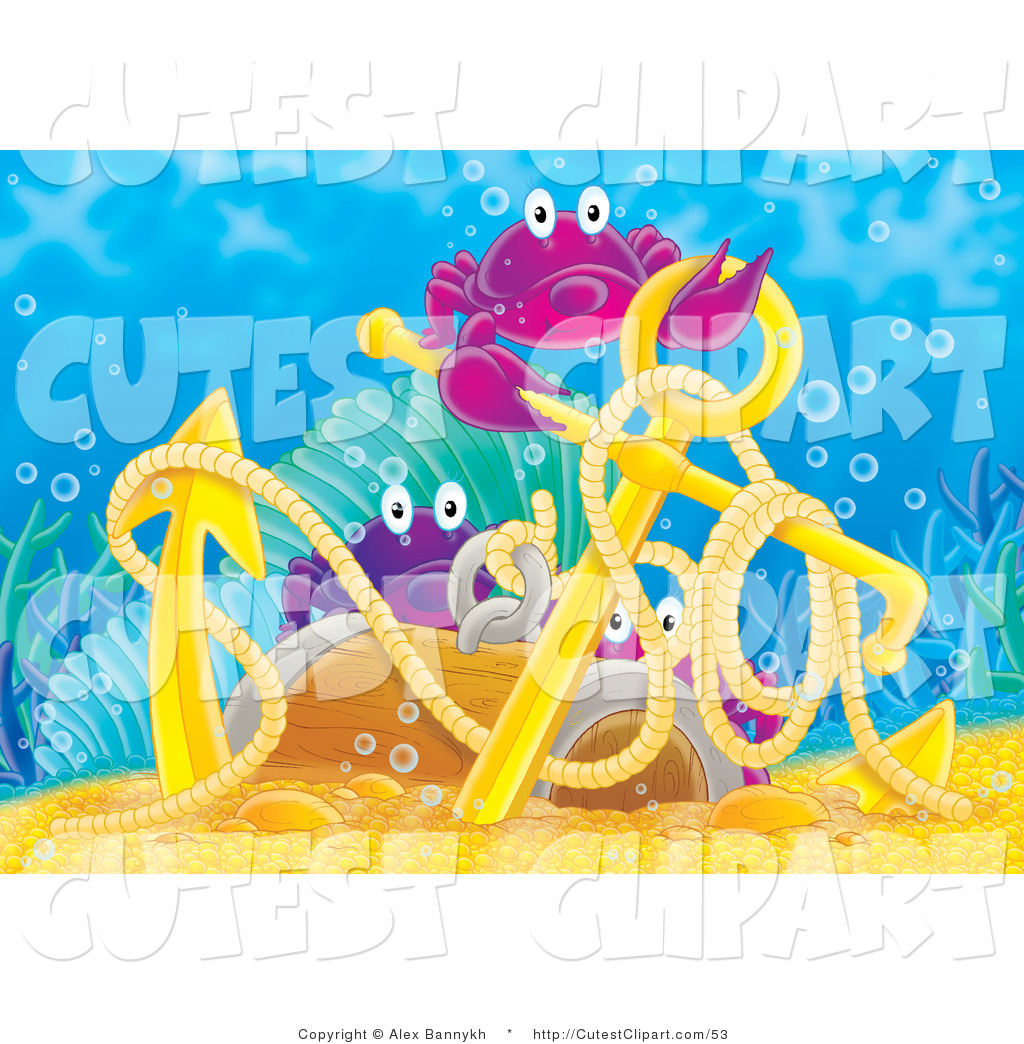 Anchor clipart underwater. Clip art of three