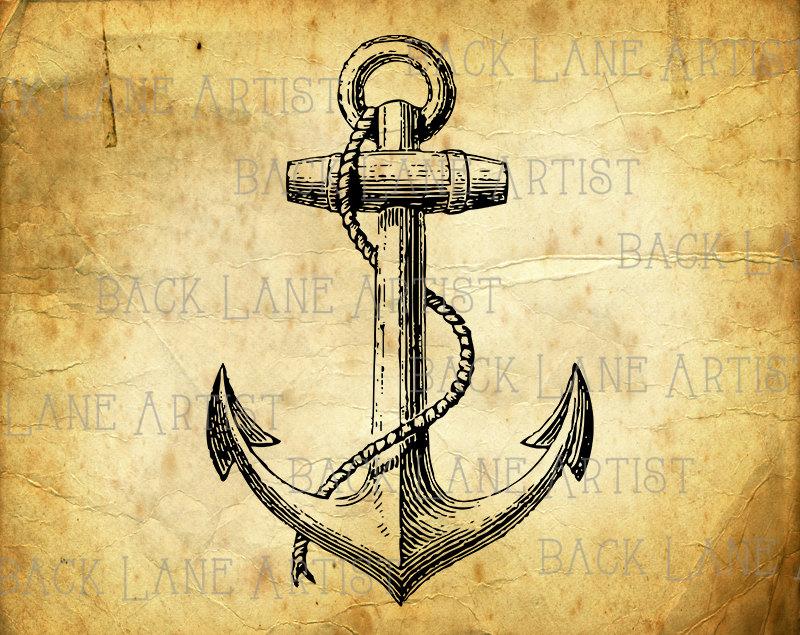 Anchor clipart vintage. Ship sailboat lineart illustration