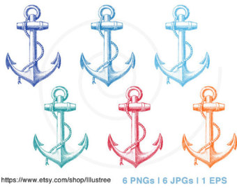 Clip art navy blue. Anchor clipart vintage