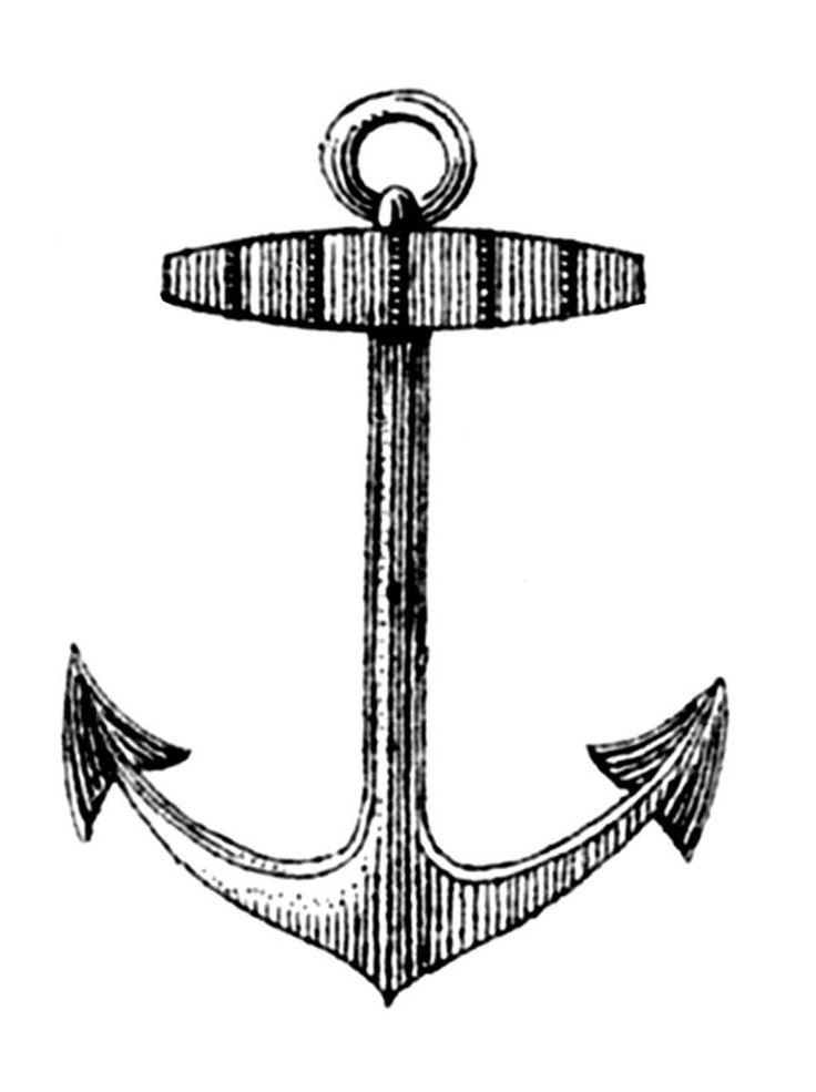 best public domain. Anchor clipart vintage