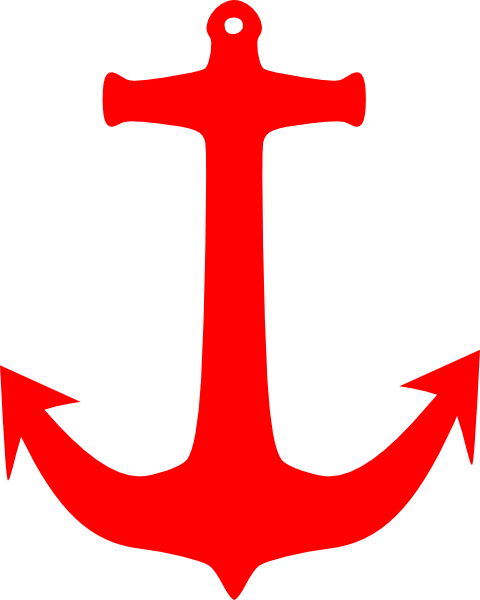 Anchor vector png.  red for free