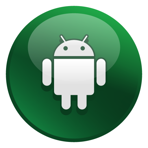 Android icon png. Glossy social iconset media