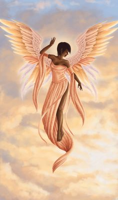 Angel clip art family. Angels clipart african american