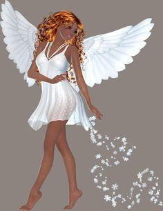 Angels clipart african american. Female guardian angel seraphim