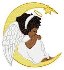 Pin on watching over. Angels clipart african american