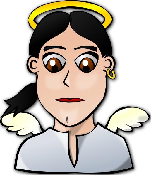 Angel clipart angel face. Cartoon clip art free