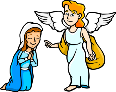 Image mary and christart. Angels clipart archangel gabriel