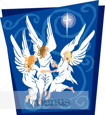 Angel clipart angelic. Dancing angels holiday archive