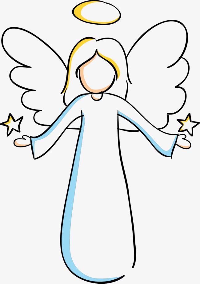 Clip Art Illustration of a Angel Singing Hark the Herald Angels