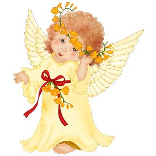 Free cartoon angel cliparts. Angels clipart angle