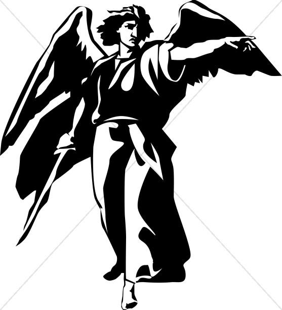 Angels clipart warrior. Archangel angel