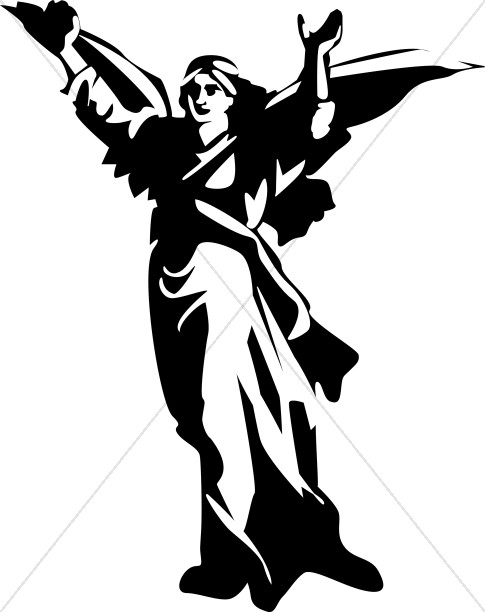 Strong angel. Angels clipart warrior