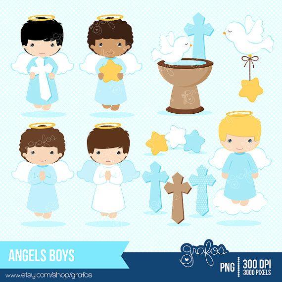 ANGELS BOYS Digital Clipart