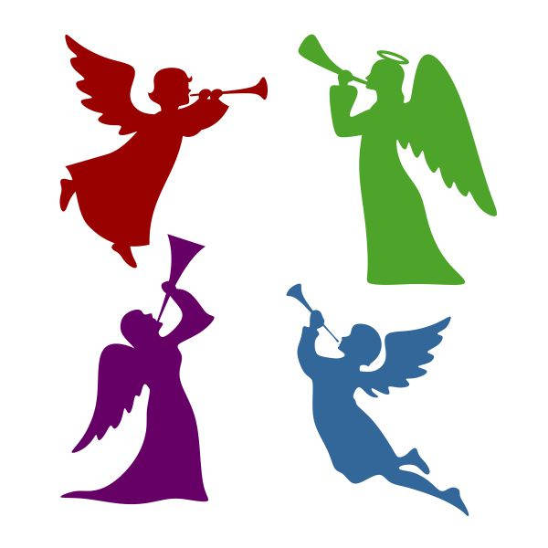 Simple christmas blowing hand. Angel clipart basic