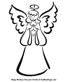 Free angels simple download. Angel clipart basic