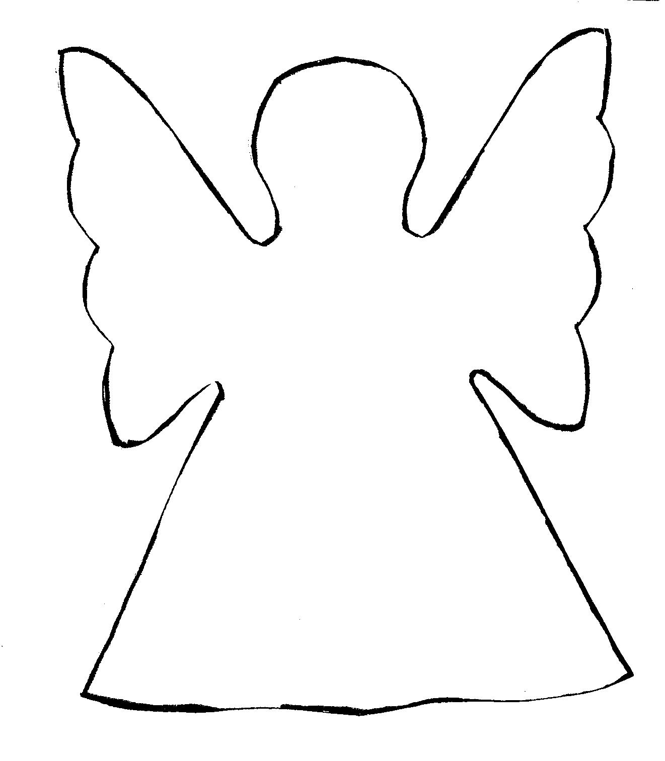 Awesome angel black and. Angels clipart outline