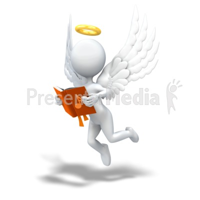 Angel clipart book. Figure signs and symbols