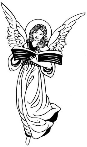 Pencil and in color. Angel clipart book