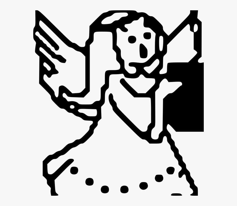 Angel clipart book. Holding child girl kid