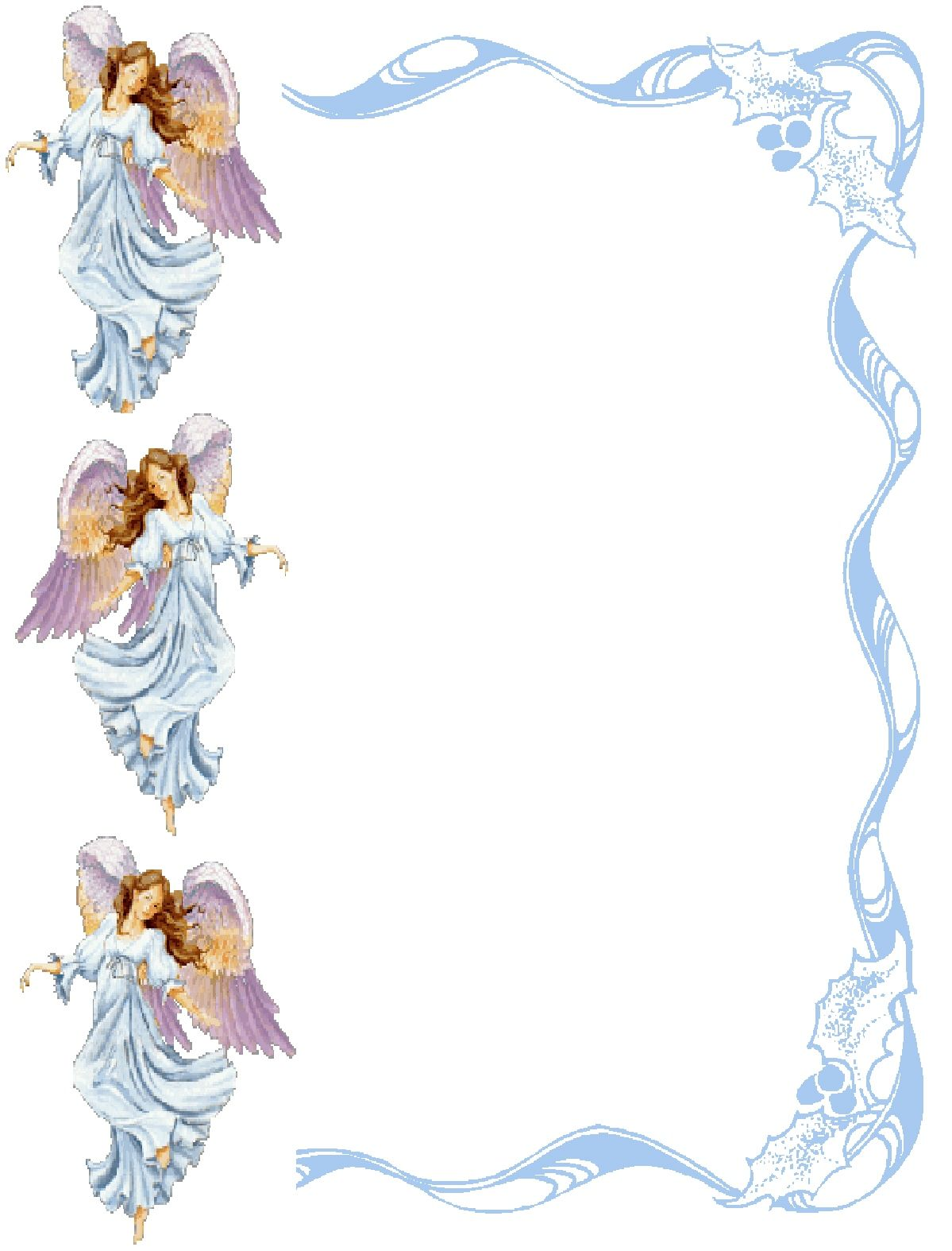 Angel borders and frames. Heaven clipart border
