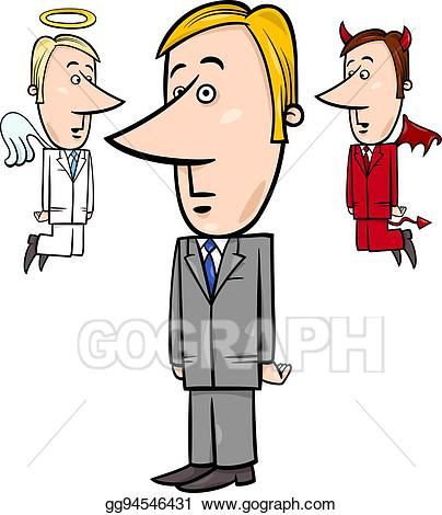 Eps vector with and. Businessman clipart angel