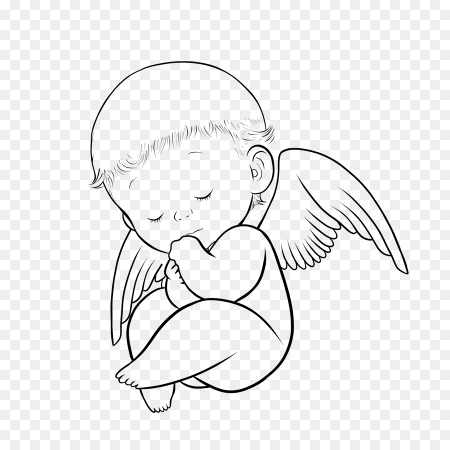 Angel clipart drawing angel drawing transparent free for