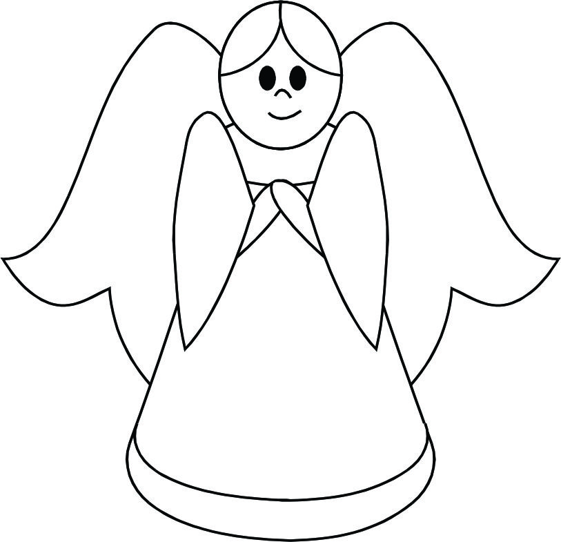Free simple cliparts download. Angel clipart easy