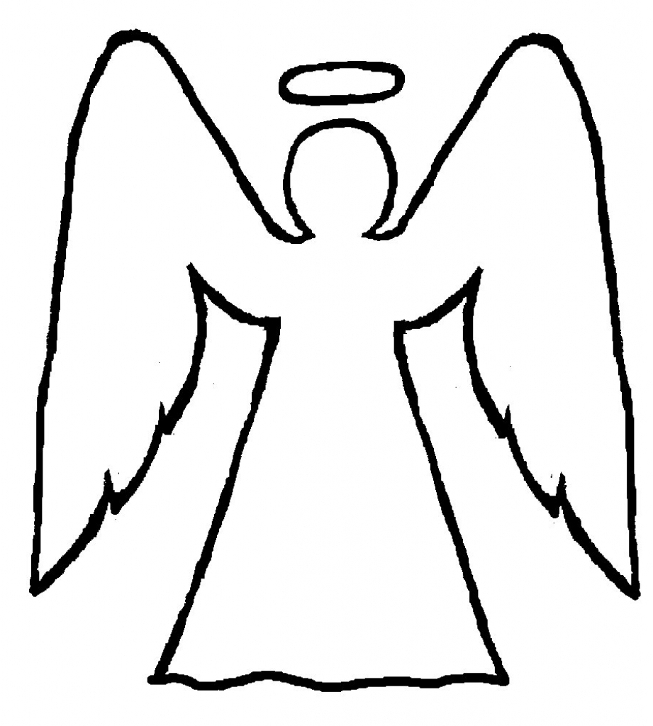 Angel clipart easy. Simple angels to draw