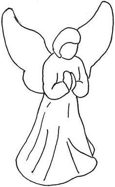 angels clipart easy