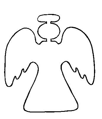 Printable pattern for the. Angel clipart easy