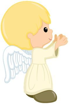 Angel boys cards. Angels clipart first communion