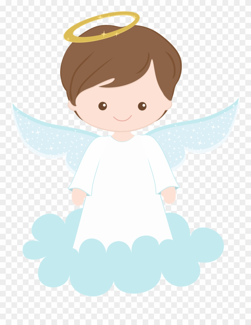 First communion child clip. Baptism clipart angel