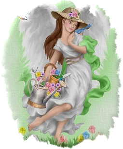 Angel clipart garden. Pin by jeny chique