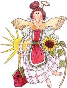 . Angel clipart garden