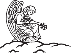 Angels clipart headstone. All saints day clip