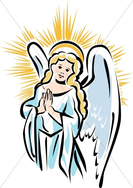 Shining angel from. Heaven clipart half