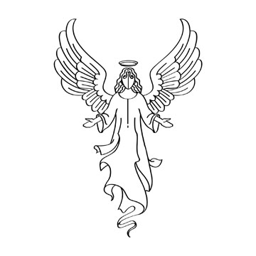 Angel clip free printable. Angels clipart line art
