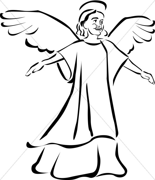 Angels clipart line art. Child angel