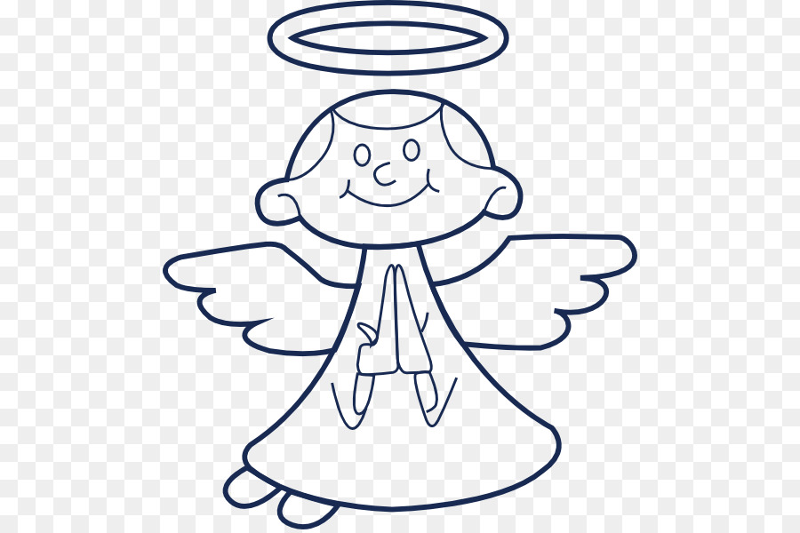 Angels clipart line art. Angel drawing prayer clip