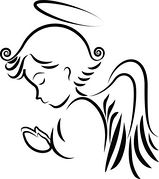 Angels clipart outline. Angel clip art free