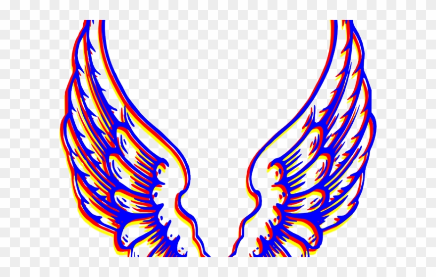 Angels clipart colorful. Angel wings logo png