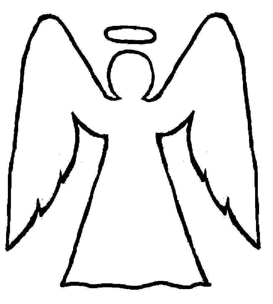Angels clipart outline. Guardian http www foodfitnessandfamilyblog