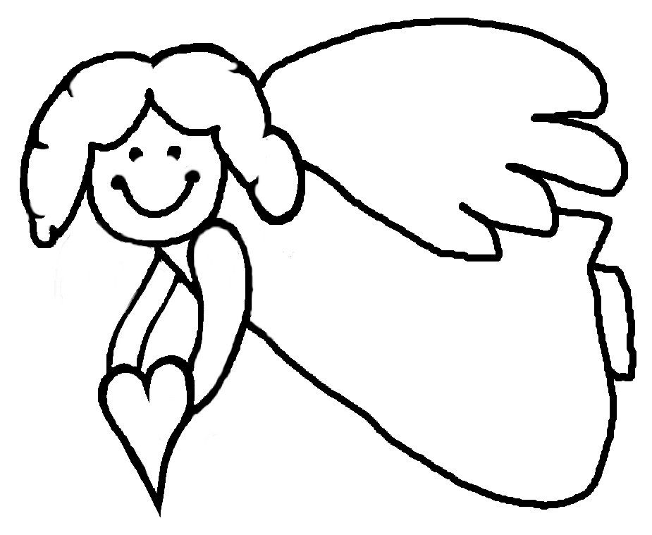 Angel coloring page | Free Printable Coloring Pages | 759x925