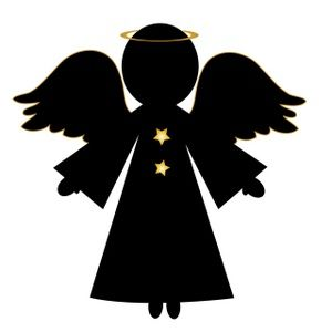 angels clipart silhouette