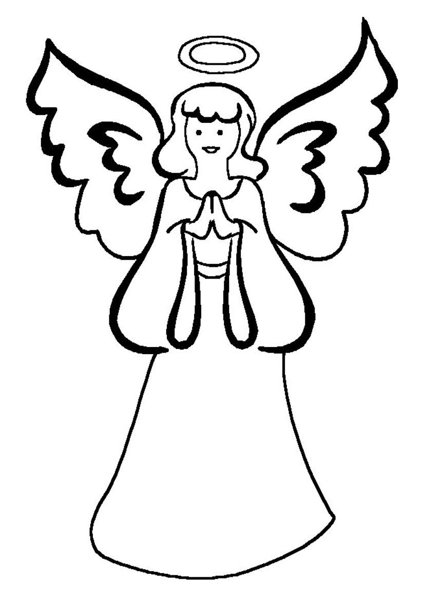 Drawing at getdrawings com. Angel clipart simple