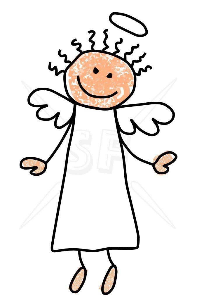 Angels clipart stick figure. Angel images clip art