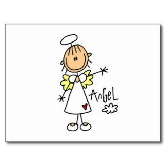 Angels clipart stick figure. Angel t shirts and